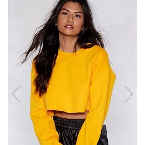 Nasty Gal Cropped Sweater